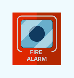 fire alarm box on wall for warning security wall vector image