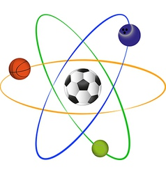 Football atom design vector image