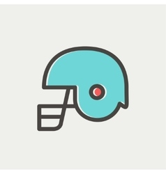 Football helmet thin lien icon vector image