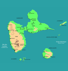 Functional map guadeloupe vector