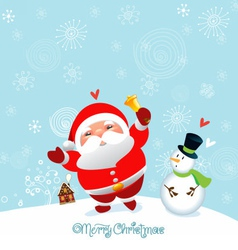 funny and cute christmas card and happy new year vector image