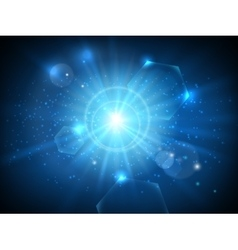 Glowing star in space background vector