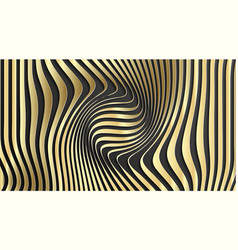Gold abstract stripe pattern background optical vector