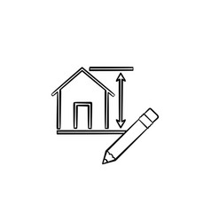 house design hand drawn sketch icon vector image