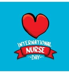 International nurse day greeting card vector image