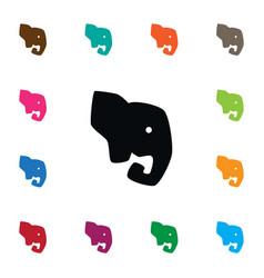 Isolated proboscis icon elephant element vector