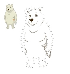 Learn to draw animal polar bear vector image
