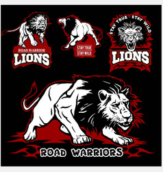 lions custom motors club t-shirt logo on vector image