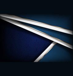 Luxurious 3d dark navy blue background overlap vector