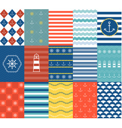 Marine backgrounds vector