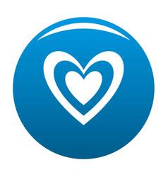 Masculine heart icon blue vector