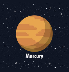 Mercury planet of milky way planet of milky way vector
