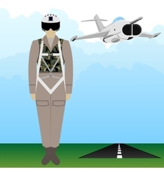 Military uniform force pilot-3 vector