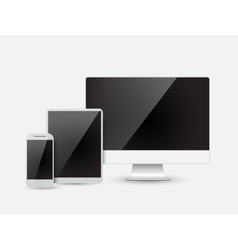 Modern device - monitor computer phone tablet vector image