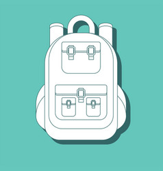 monochrome silhouette of backpack icon stylized vector image