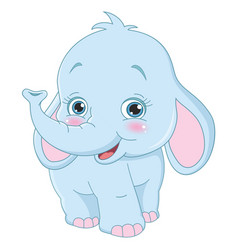 of cartoon elephant vector image