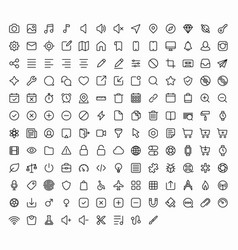 Outline icons for web and mobile 152 glyph vector