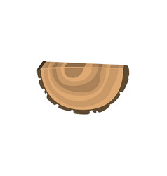Piece of felled tree with growth rings vector
