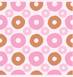 playful spot textured polka dot seamless pattern vector image