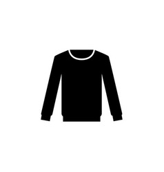 Pullover icon on white background clothing or vector