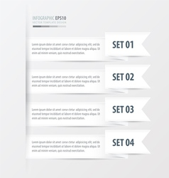 ribbon Modern infographics bannerwhite color style vector image