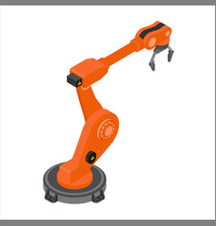 robotic arm isolated on white background vector image