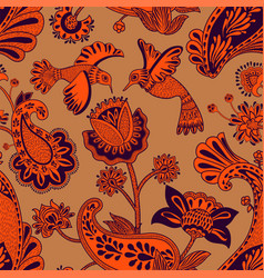 seamless pattern decorative indian style vector image