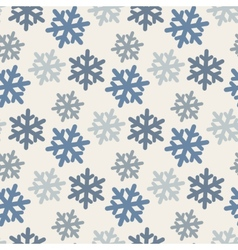 Seamless pattern with colorful snowflakes in blue vector
