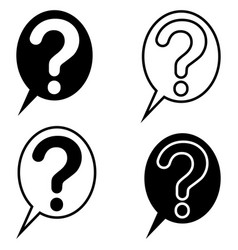 set question mark bubble icon symbol sign vector image