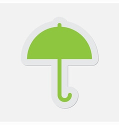 simple green icon - umbrella vector image