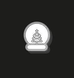 Snow ball christmas tree icon can be used for vector