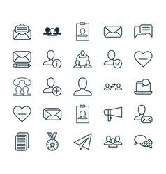 Social icons set collection of mail speaking vector