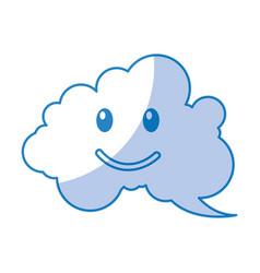 speech bubble happy comic character vector image
