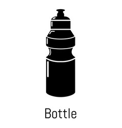 sport bottle icon simple black style vector image