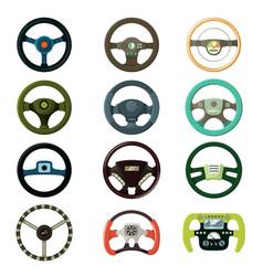 steering wheel car driving wheeling control vector image