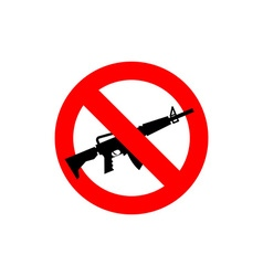 Stop machine gun It is forbidden to shoot Frozen vector