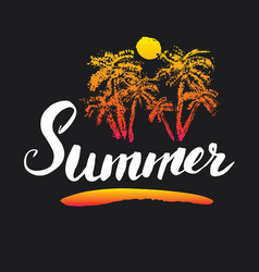 Summer calligraphy lettering handwritten sign vector