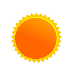 sun cartoon drawing symbol design vector image