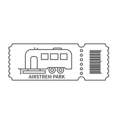 Ticket with barcode and trailer vector