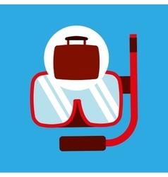 Travel concept snorkeling equipment vector