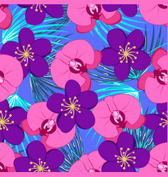 tropical pattern with orchids vector image
