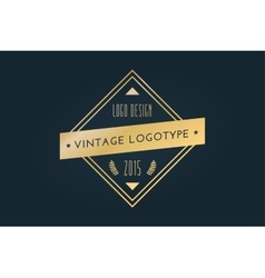 Vintage old style shield logo icon template vector image