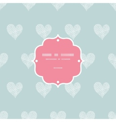 White lace hearts textile texture frame seamless vector image