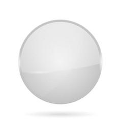 White shiny 3d button web round icon vector