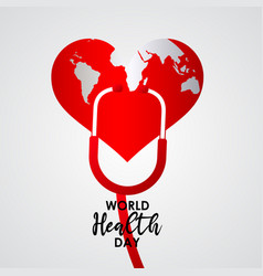 World health day celebration template design vector