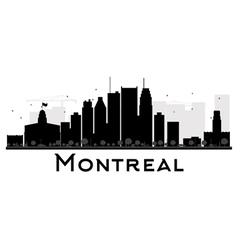 Montreal City skyline black and white silhouette vector image