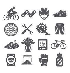 Biking icons vector image vector image