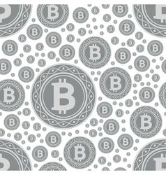 bitcoin coins seamless pattern vector image vector image