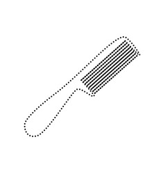 comb simple sign black dotted icon on vector image