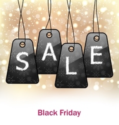 Abstract Set Labels for Black Friday Sales vector image vector image